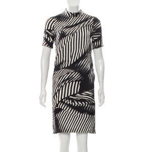 Stella McCartney Zebra Print Silk Dress